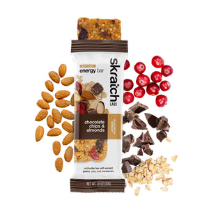 SKRATCH LABS CHOCOLATE CHIPS AND ALMONDS ENERGY BAR
