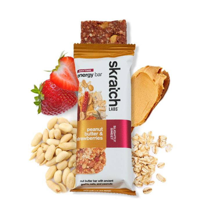 SKRATCH LABS PEANUT BUTTER AND STRAWBERRIES ENERGY BAR