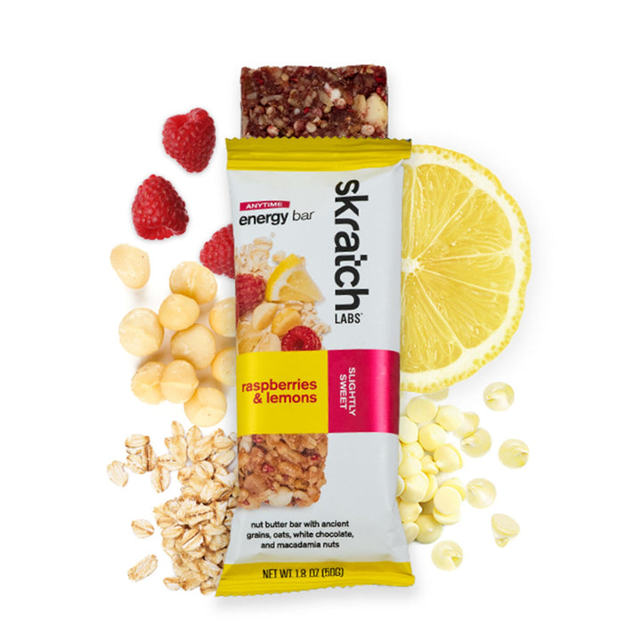 SKRATCH LABS RASPBERRIES AND LEMONS ENERGY BAR