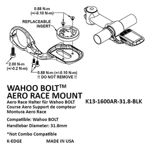 K-EDGE WAHOO BOLT AERO RACE MOUNT