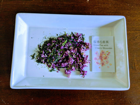 Teas Tisanes Blends- Green Tea with Cherry Blossoms