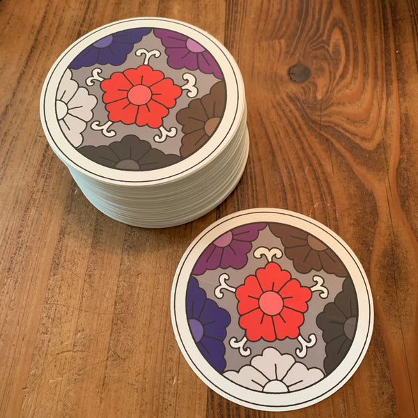 Jiu-Jitsu Flowers Sticker