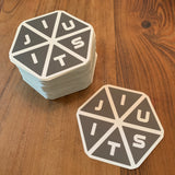 Jiu-Jitsu Hexagon Sticker