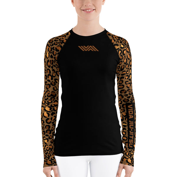 Cheetah Sleeves Women's BJJ Rash Guard