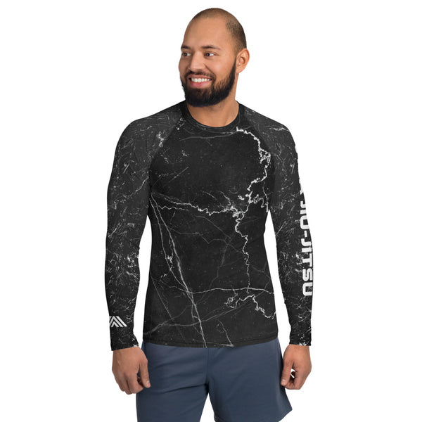 Black Marble Lightning Men's NoGi Jiu-Jitsu Rash Guard
