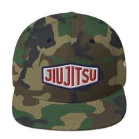 Red, White & Blue Jiu Jitsu Flat Brim Snapback Hat