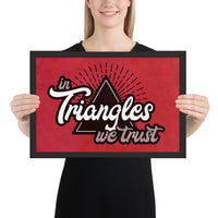 In Triangles We Trust Framed Jiu-Jitsu Art Poster Print