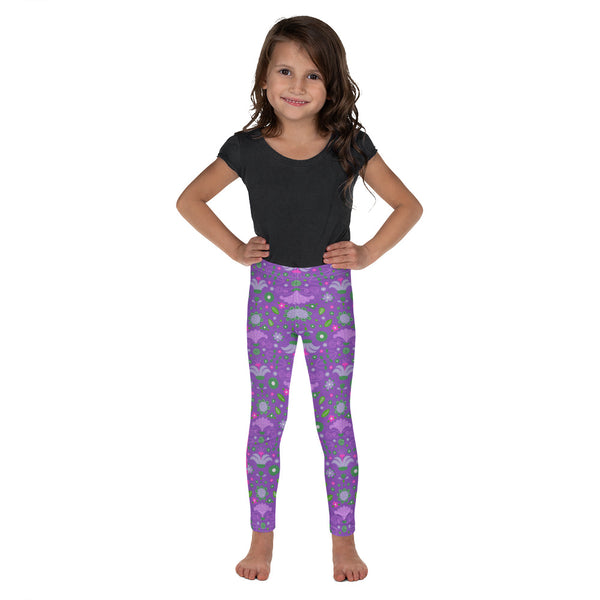 Purple Flowers Kid's Nogi Spats / Jiu-Jitsu Leggings