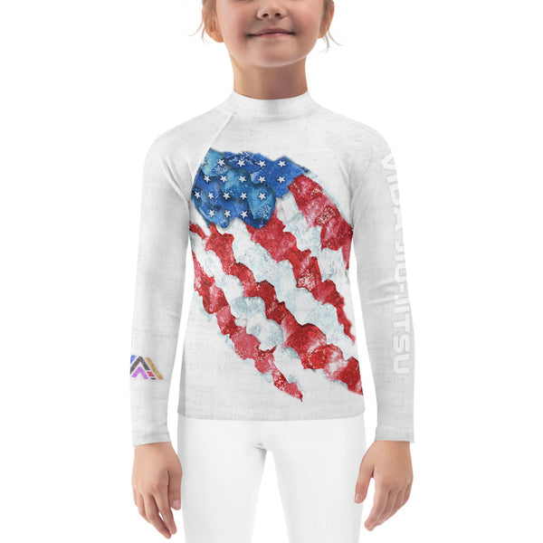 American Flag Kids Jiu-Jitsu Rash Guard