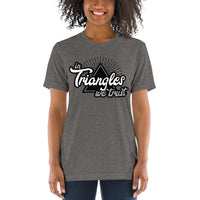 In Triangles We Trust Short Sleeve Tri-Blend T-shirt