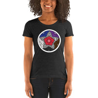 BJJ Flowers Ladies' Jiu-Jitsu Rank Inspired Short Sleeve Tri-blend T-shirt