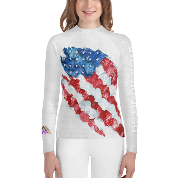 American Flag Youth Jiu-Jitsu Rash Guard
