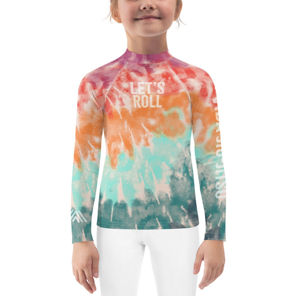 Tie Dye Let's Roll NoGi Kids Jiu-Jitsu Rash Guard (BJJ Colorway 1)