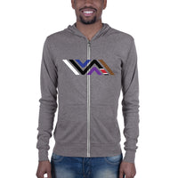 Vida Icon Unisex Zip Lightweight Hoodie Sweatshirt
