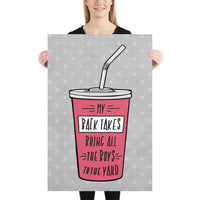 My Back Takes Bring All the Boys to the Yard Jiu-Jitsu Art Poster Print