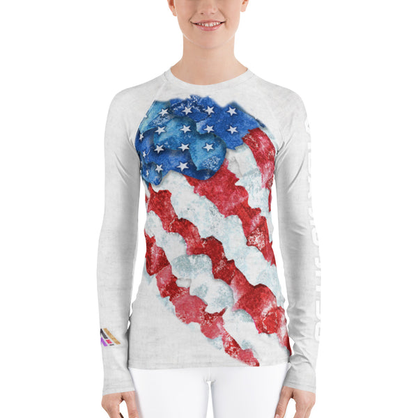 American Flag Vida Jiu-Jitsu Women's Rash Guard