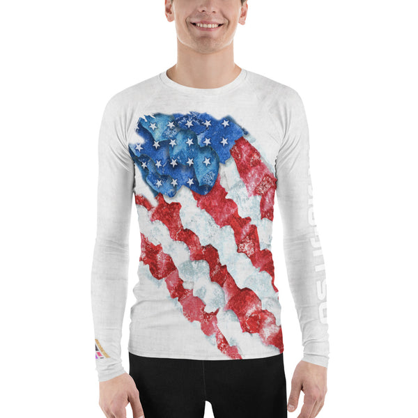 American Flag Men's Jiu-Jitsu Rash Guard