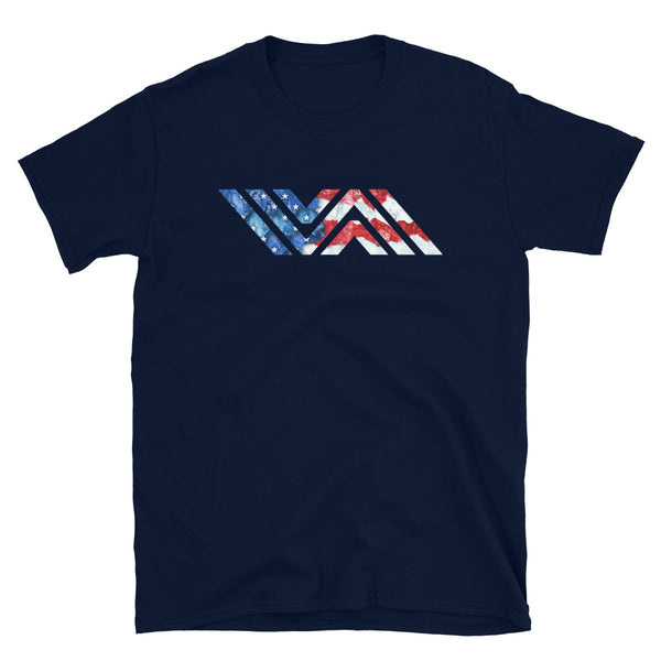 Vida Jiu-Jitsu American Flag Icon Short-Sleeve Navy Unisex T-Shirt