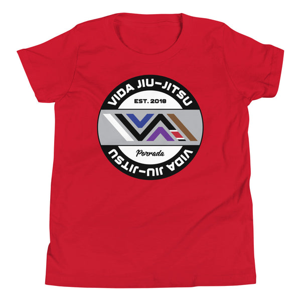 Vida Jiu-Jitsu Circle Logo Kids Short Sleeve Tee