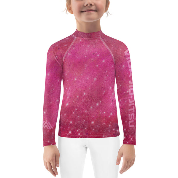 Pink Space Jiu-Jitsu Kids Rash Guard