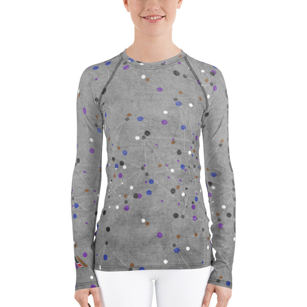 Jiu-Jitsu Molecules Women's Rash Guard