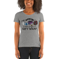 Let Me Show You How I Gift Wrap Ladies' Short Sleeve Tri-Blend T-shirt