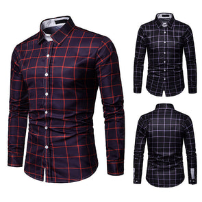 Casual Slim Fit Shirts Long Sleeve