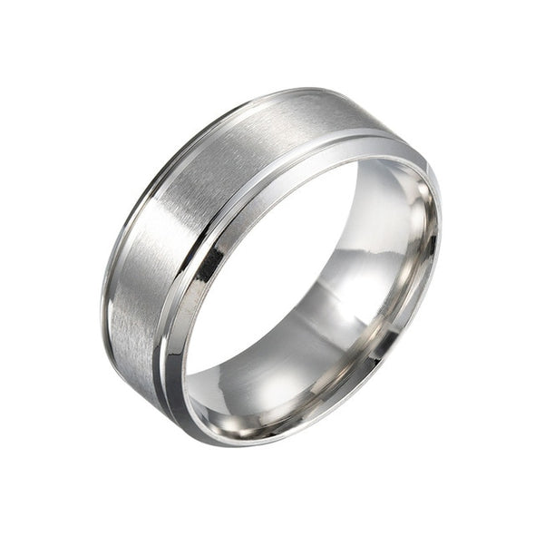 Titanium Steel Engagement Rings for Men and Women