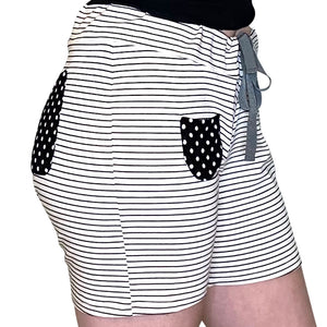 Cozy Loungewear Drawstring Shorts with Pockets