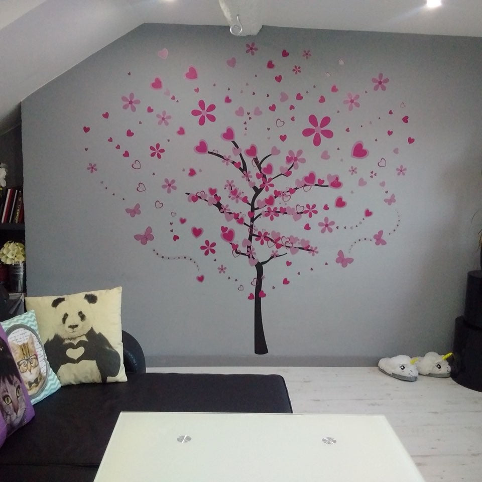 Pink Butterfly Wall Stickers