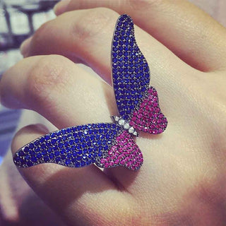 Fluhtr™ Micro-Pavé Butterfly Ring