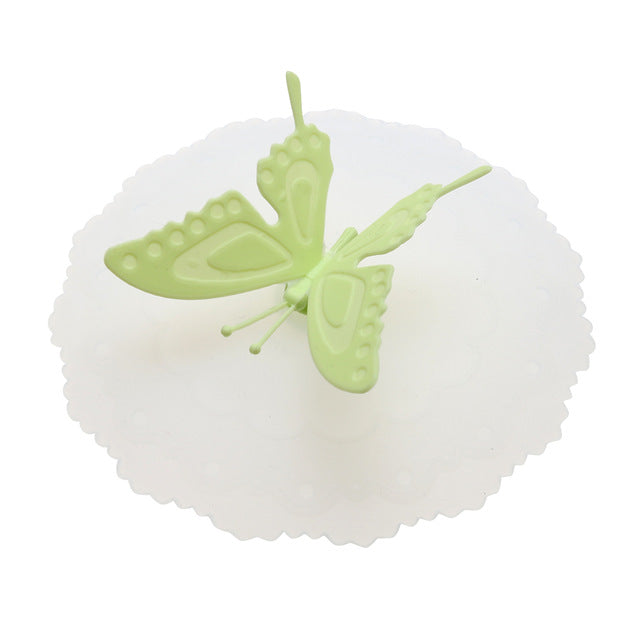 2PC* Butterfly Silicone Leakproof Lid