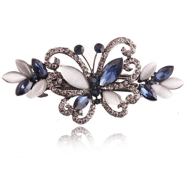 Opals Crystal Butterfly Hair clip