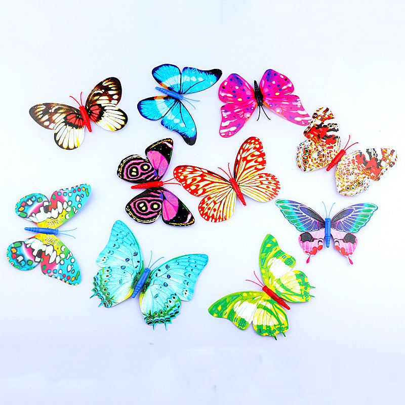 Glow Butterfly Wall Mirror Stickers