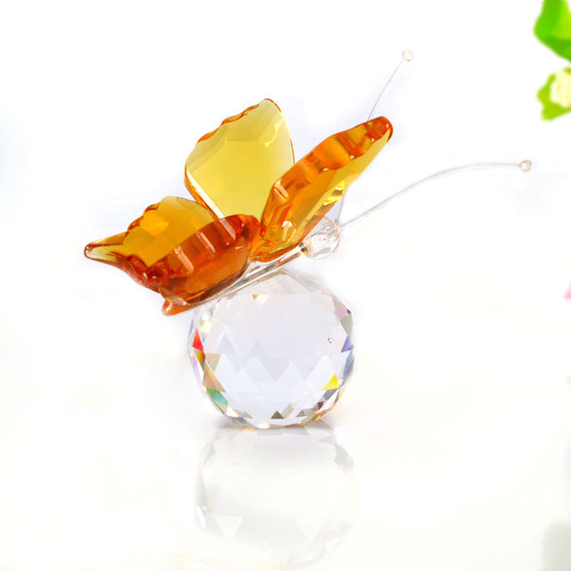 Handmade Crystal Butterfly Figurines