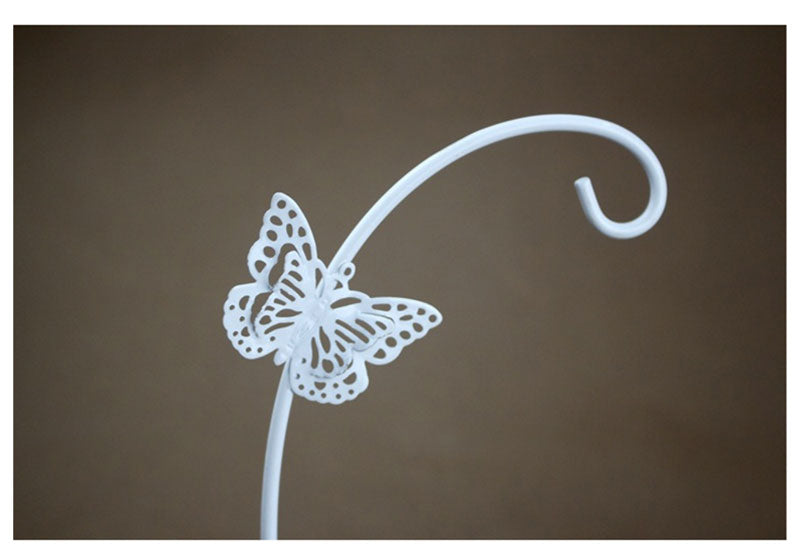 Metal Butterfly Candlestick Figurine