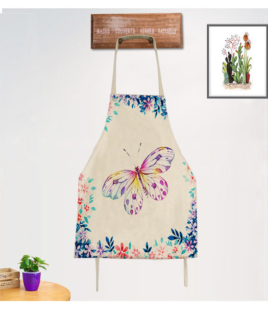 Cotton Linen Butterfly Apron