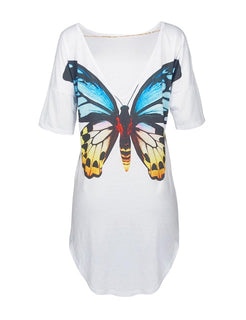Summer T-shirt White Fashion Clothing