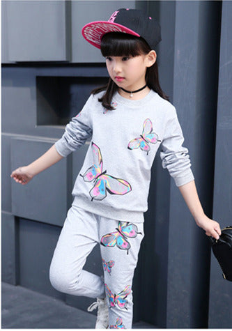 Teens Butterfly Clothing Set