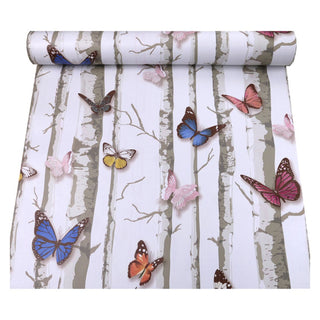 Forest Butterfly Self-adhesive Wallpaper