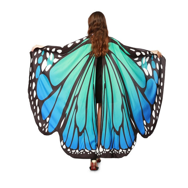 Women Butterfly Wings Scarf Costume