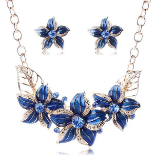 Fluhtr™ Austrian Crystal Enamel Flower Jewelry Sets