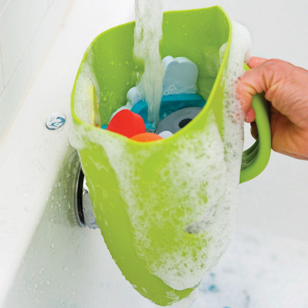 Rinsing toys using the Boon Frog Pod