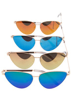 Mirror lens cat eye framed sunglasses pack