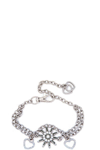 Rhinestone studded spur boot chain