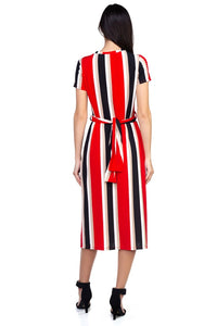 Stripe Twist Front Dress