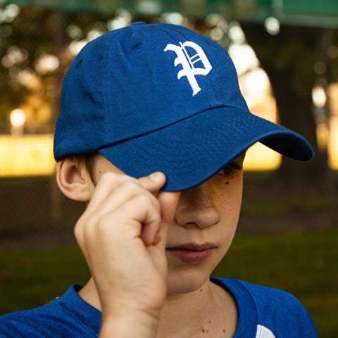 Youth Royal Blue Cotton Cap