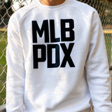 White MLB PDX Crewneck Sweatshirt
