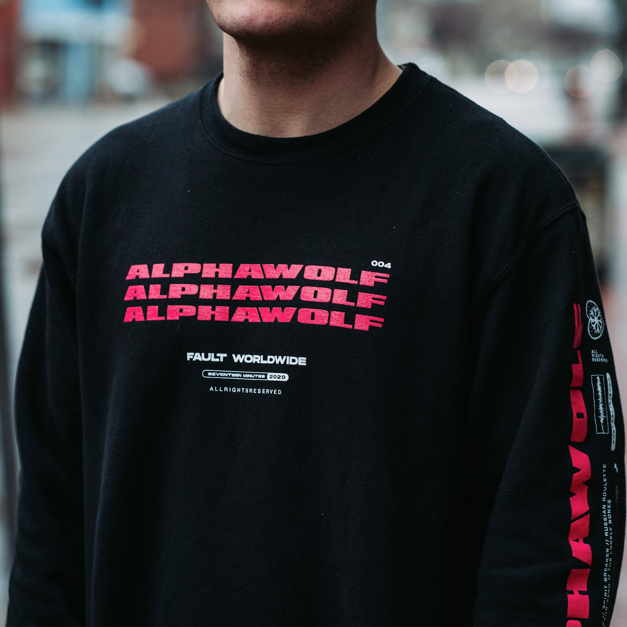 "Alpha Wolf - ""Fault Worldwide"" Crewneck"