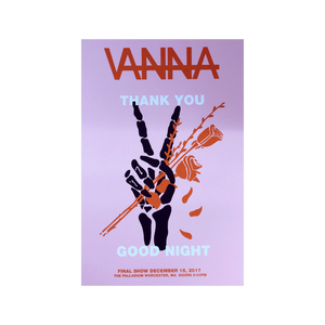 "Vanna - ""Thank You, Goodnight"" Silk Screen Poster 11x17"